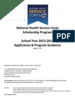 NHSC Scholarship Program