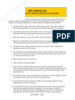 IEP Checklist 4 Parents