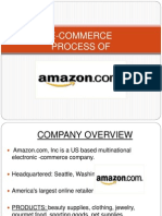 E-commerce process of amazon.com