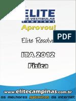 Prova Resolvida ITA_2012-Fisica