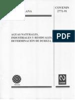COVENIN 2771-91 Determinacion de Dureza