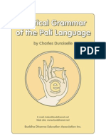 A Practical Grammar of the Pali Language