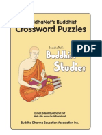 BuddhaNet's Buddhist Crossword Puzzles
