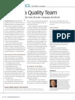 Building a Quality Team 2008