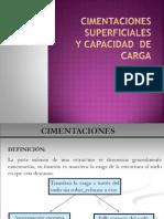 Cimentaciones superficiales y capacidad  de carga.pptx