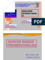 MARCOS RIGIDOS TRIDIMENSIONALES POR EL MÉTODO DE JAMES M. GERE [Modo de compatibilidad]
