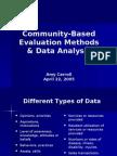 Community-Based Evaluation Methods