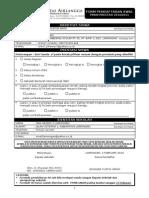 Form Pendaftaran Awal Anyar