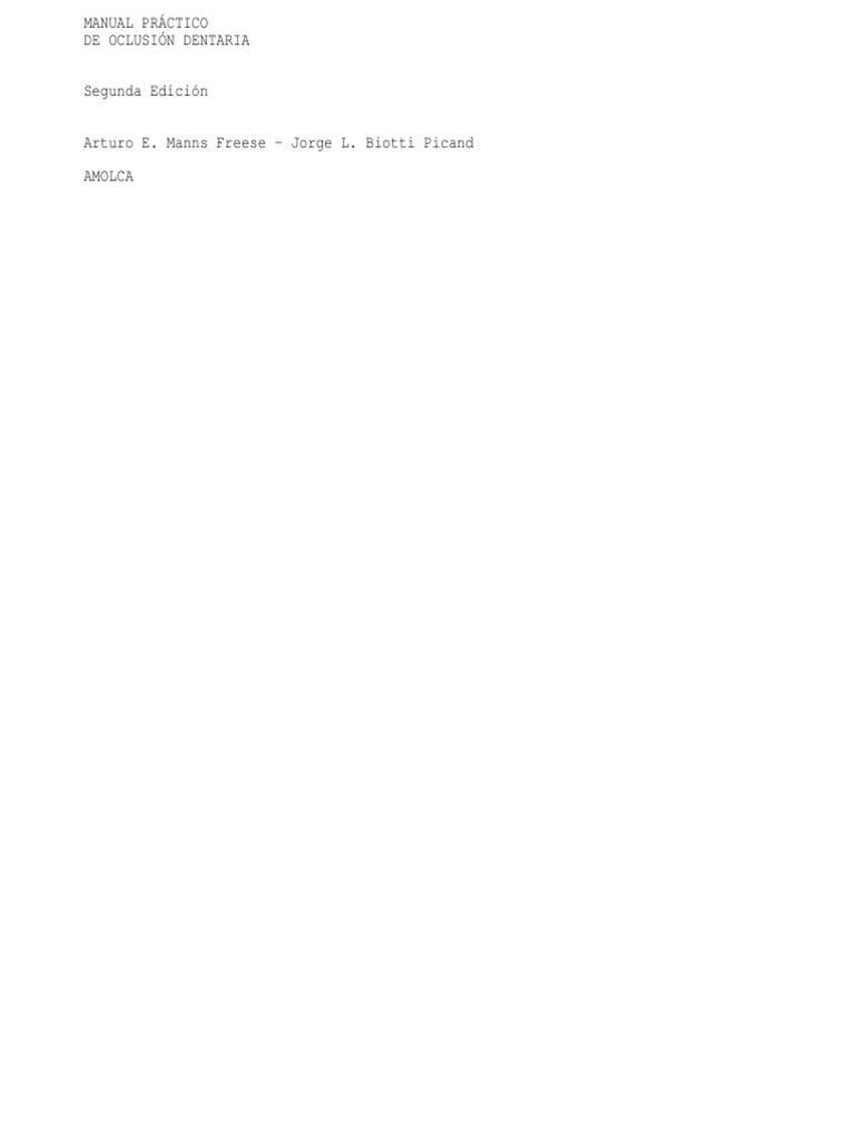 67183486 Manual Practico de Oclusion Dentaria MANNS