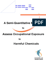 A Semiquantitative Method to Assess Occupational Exposure to Harmful Chemicals