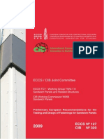Preliminary European Recommendations for the Testing and Design of Fastenings for Sandwich Panels