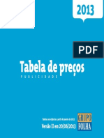 Tabela precos Folha 2013