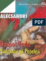 Alecsandri Vasile - Despot Voda (Tabel Crono)