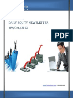Equity Newsletter And Intraday Tips 9-October