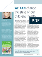We CAN change the state of our children's health - by Deirdre Imus