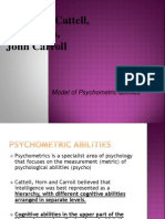 cattell horn carroll - model of psychometric abilities
