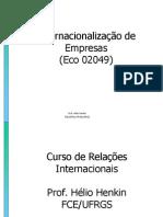 A Empresa Transnacional na Teoria Econômica e na Economia Contemporânea