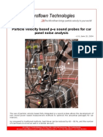 Application Note_Particle Velocity Based P-U Sound Probes for Car Panel Noise Analysis