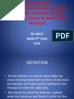 resantation on women fcw anu