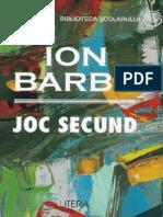 Barbu Ion - Joc Secund (Aprecieri)