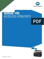 Konica Minola Bizhub 185 használati utasítás Hu