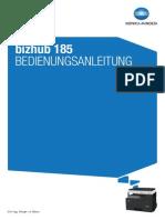 Bizhub 185 Benutzerhandbuch DE