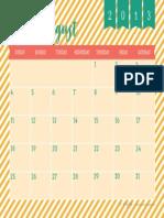 2013 August Calendar