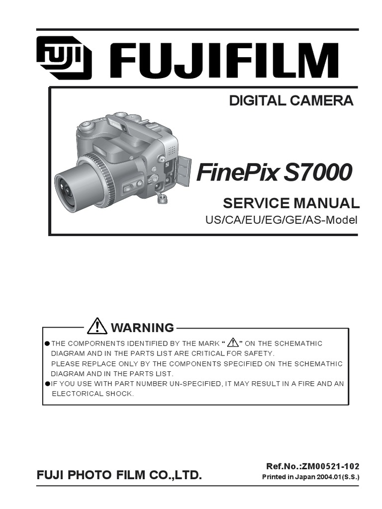 Fujifilm finepix s7000 service manual download, schematics, eeprom.