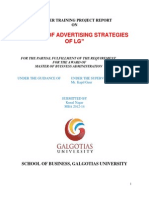 A Study of Advertising Strategies of Lg Research Report Marketing
