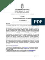 Ensayo Economia Ecuatoriana