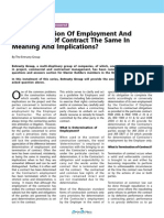 Is Determination of Employment and Termination of Contract the Same in Meaning and Implications