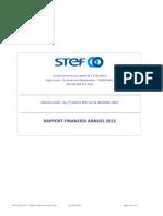 2013 Rapport Financier Annuel 2012