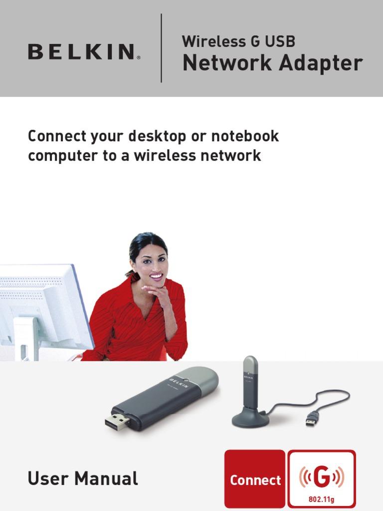 belkin wireless adapter f5d7050 manual wireless lan ieee 802 11 rh scribd com