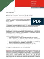 Finmeccanica approva la cessione di Ansaldo Energia
