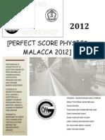 SPM PHYSICS Perfec Score Melaka 2012