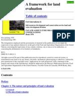 A Framework for Land Evaluation FAO Soil Bulletin 32 1976