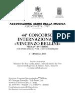 """Bando - Concorso Internazionale """"V. Bellini"""" 2013"""