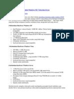 Spesifikasi Minimum Untuk Windows XP