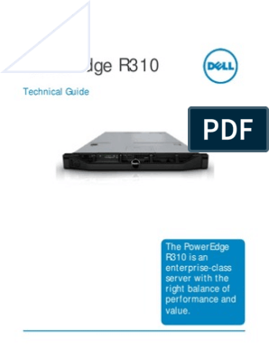 PowerEdge R310 Tech Guide Rev1 | Usb | Solid State Drive