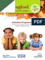 Chingford Children's Centre Autumn2013 Activities