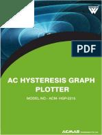 AC Hysteresis Graph Plotter