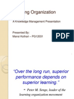 Learning Organisation By Peter M Senge