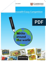 CW Essay Competition Booklet 2013