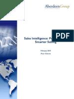 Artigo - Vendas - Aberdeen - Sales Intelligence - Preparing for Smarter Selling