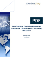 Artigo - Vendas - Aberdeen - Sales Training Research Rreport