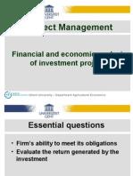 Financial and Economic Analysis Part 2 XG