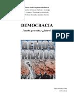 Ensayo Teoría y práctica de las democracias. Carlos Méndez Cañas