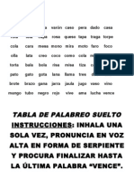 Tabla de Palabreo
