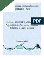 Revisão da NBR 12.20992 – Elaboração de Projetos Hidráulico-Sanitarios de Estações de Tratamento de Esgoto MR_23-09_Americo_Sampaio.pdf