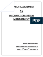Research Assignment of Ism